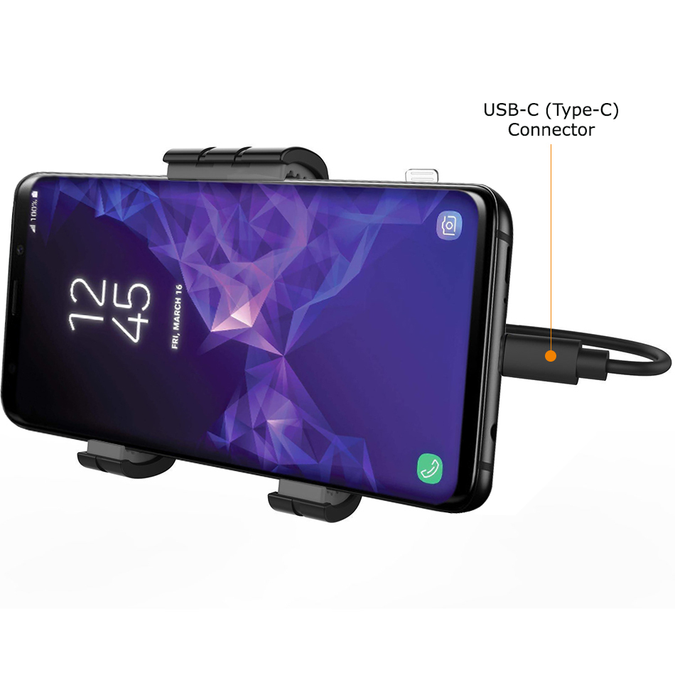 kidigi car mount holder usb type c cable samsung galaxy s9. Black Bedroom Furniture Sets. Home Design Ideas